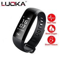 LUOKA M2 Smart Band Heartrate Blood Pressure Oxygen Oximeter Sport Bracelet Clock Watch Inteligente Pulso For
