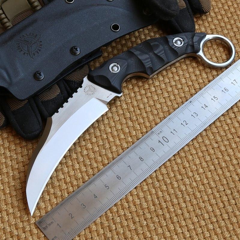 LW Talons Karambit VG 10 blade carbon fiber handle fixed blade hunting font b knife b