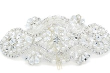 Großhandel 5 stücke Strass Kristall Applique Patch für Hochzeit Prom Abendkleider RA002