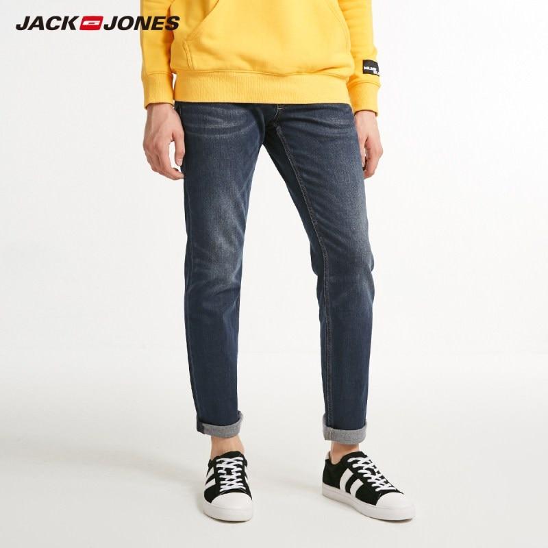 JackJones Men's Winter Warm Cotton Stretch Jeans Slim Denim Pants Menswear 218432507
