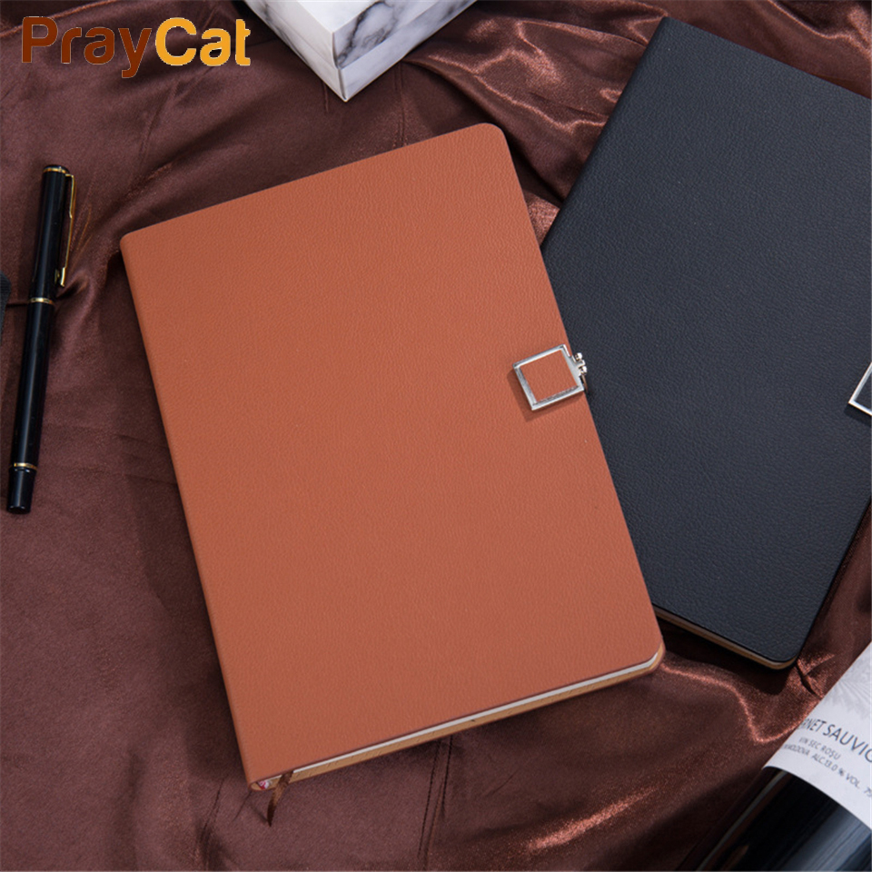 Luxury Leather Notebook Diary Business Journal Cover Soft Writing 120 sheets Planner Notebooks Grift Box Set Custom Logo segal business writing using word processing ibm wordstar edition pr only