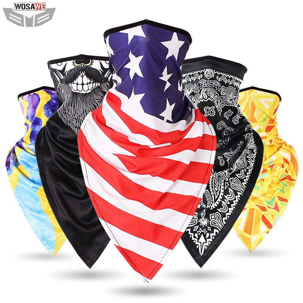 Motorcycles Bandana Motocross Balaclava Face Shield Breathable Mask Multifunctional Moto Half