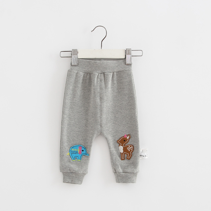 Casual Toddler Trousers Baby Bottoms Pants Infant Boys Girls Cartoon Cute elephant deer sports Pants baby clothes drop shipping (17)