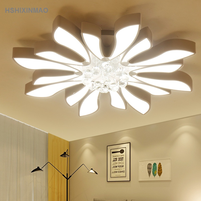 LED wrought iron acrylic special shaped ceiling lamp can be adjustable brightness temperature Ceiling lights AC100 240V|Ceiling Lights| |  - title=