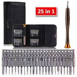 Chave de fenda conjunto 25 em 1 torx multifuncional ferramenta de reparo abertura conjunto precisão chave de fenda para telefones tablet pc