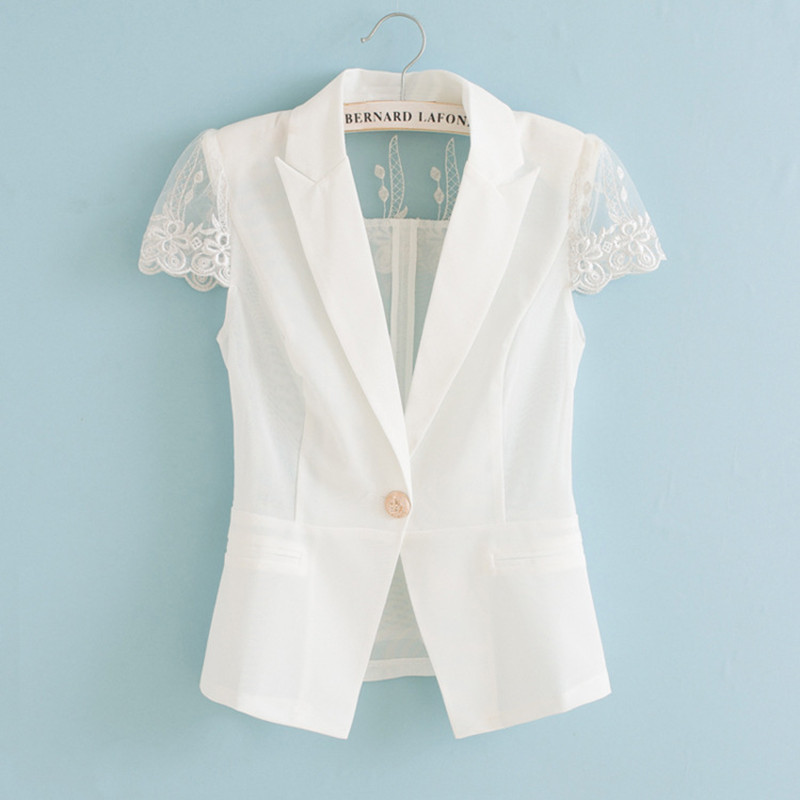 Popular White Lace Blazer-Buy Cheap White Lace Blazer lots from ...