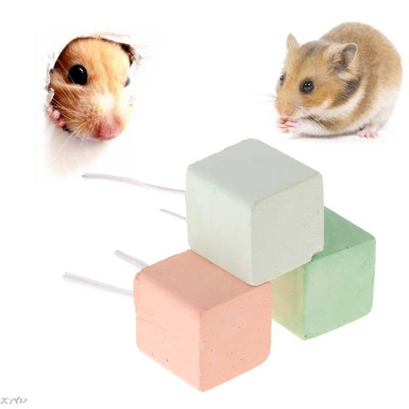 Hamster Răng Đá Khoáng Canxi Thỏ Chuột Sóc Đồ Chơi Khối Lập Phương Hàng Đồ Chơi cho Thú Cưng Nhỏ Động Vật