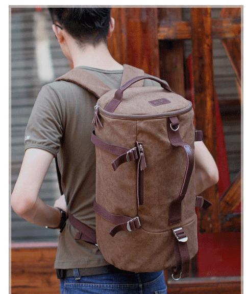 2014 male backpack male cylinder canvas vintage one shoulder cross-body   laptop bag,free shipping free shipping 2014 boom bag leisure contracted one shoulder bag chain canvas bag