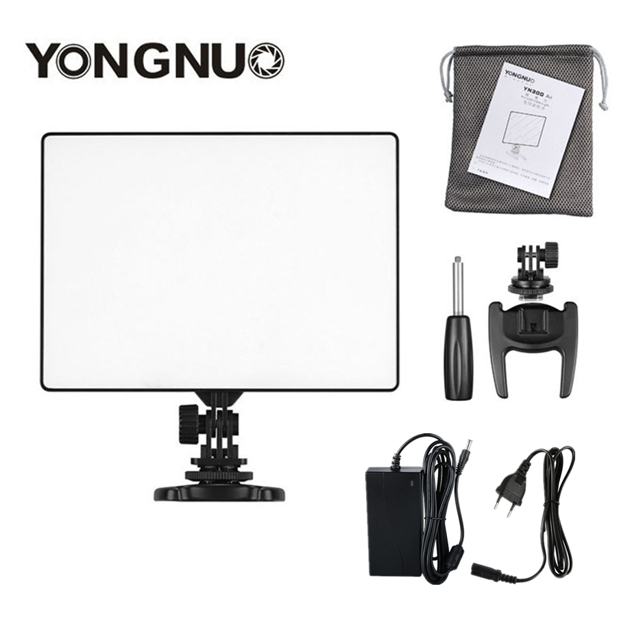 YONGNUO YN300 air YN-300 air Pro LED Camera Video Light video photography Light+AC Power Adapter charger kit For Canon NikonYONGNUO YN300 air YN-300 air Pro LED Camera Video Light video photography Light+AC Power Adapter charger kit For Canon Nikon