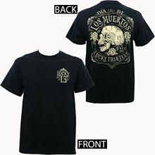 Authentic LUCKY 13 Dead Skull Dia De Los Muertos T-Shirt NEW Unisex Fashion T Shirts top tee