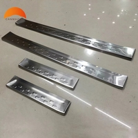 For Mazda 2 Demio DJ Hatchback 5door 2014 2018 Steel Car Styling Side Outer Door Sill Strip Scuff Plate Pedal Auto Accessories