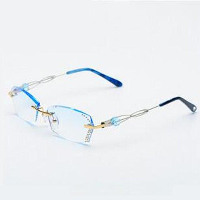 2016 nuevas mujeres marcos sin montura de titanio verano gafas graduadas