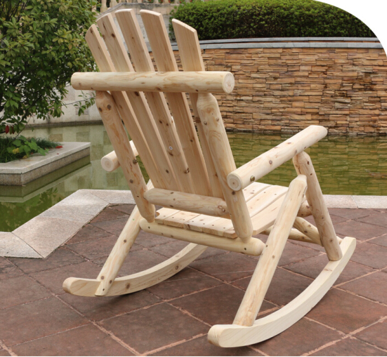 US $189.0 |Modern Solid Wood Rocking Chair Antique/Natural Outdoor  Furniture Garden Chair Wooden Patio Garden Vintage Rocking ArmChair-in  Garden ...
