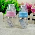 Botella de Bebé lindo Bebé Recién Nacido Copa Niños Aprenden de Alimentación Bebederos Botella Mango Paja niños Jugo Botellas de agua 60 ml