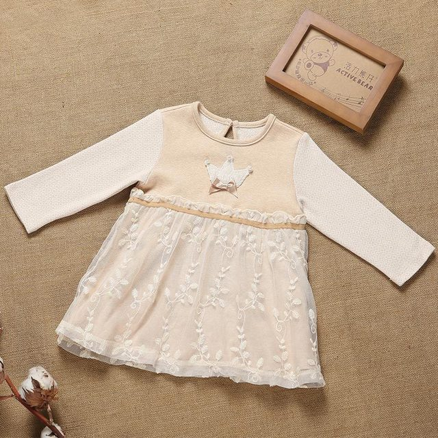 Newborn Baby Girl Cotton Brand Dresses New Fashion Infant Toddler Baby Girls Birthday Party Casual Lace Dress Clothes vestidos