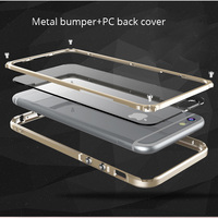 For Iphone 6S 6plus Phone Case Original Aluminum Metal Frame Case Full Body Bumper Cover For
