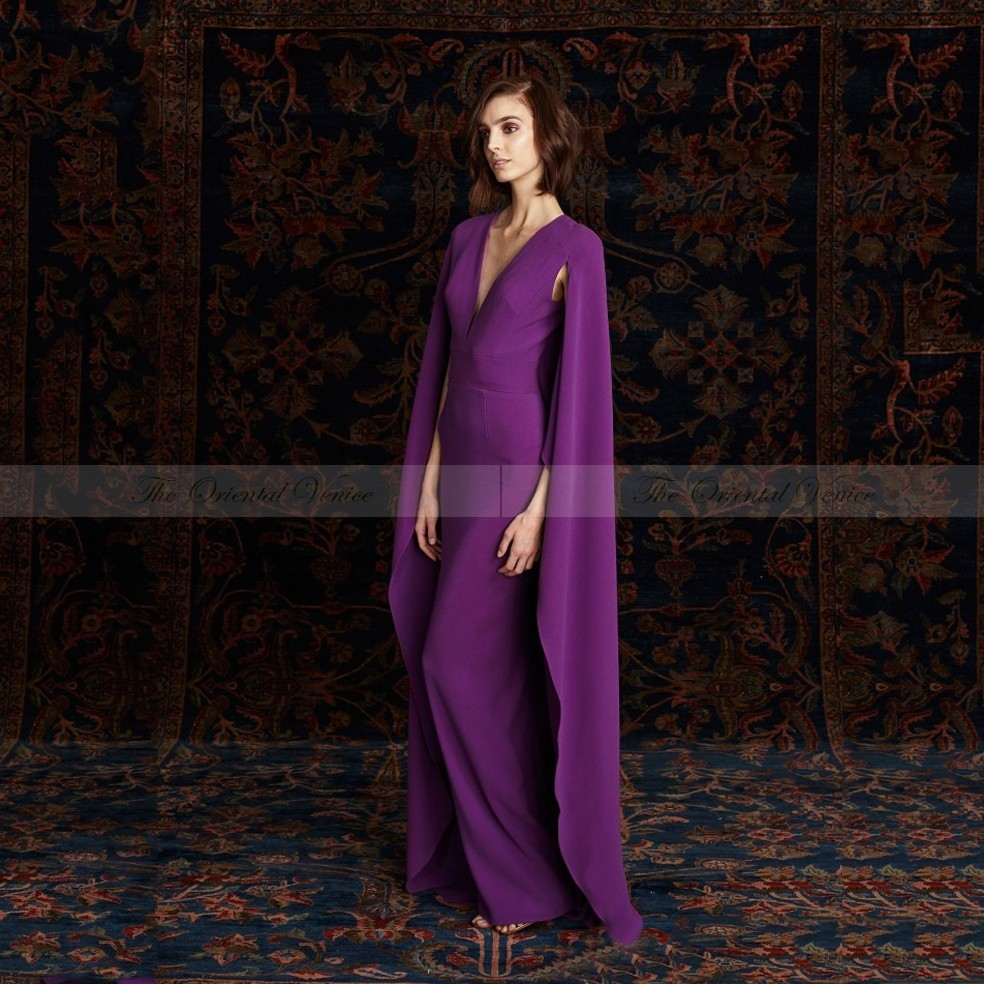 Online Get Cheap Evening Dress with Cape Purple -Aliexpress.com ...