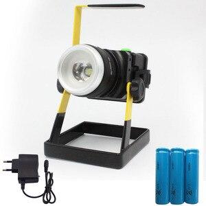 Portátil 10 W T6 Holofotes Móveis Ao Ar Livre Iluminação de Acampamento Trabalho Spot Light Lâmpada Holofotes Luz De Inundação À Prova D' Água