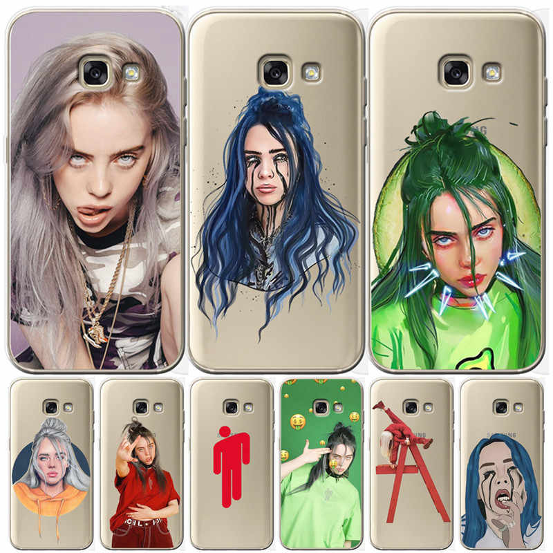 Billie eilish For Samsung Galaxy A9 A8 A7 A6 A5 A3 A10 A30 A20 A50 A70 A60 A40 A20E 2016 2017 2018 Cover Case Funda Coque Etui