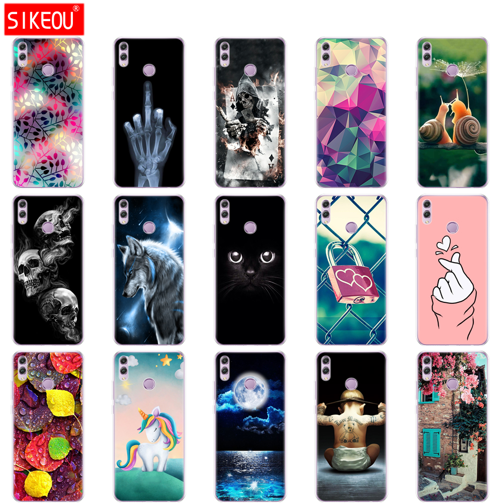 for <font><b>huawei</b></font> <font><b>honor</b></font> <font><b>8x</b></font> Case 6.5 inch Silicon Soft TPU Back Cover for <font><b>huawei</b></font> <font><b>honor</b></font> <font><b>8x</b></font> Protect Phone cases shell Coque bags flower image