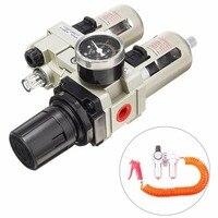 1 Set Mayitr Air Compressor Oil Lubricator Water Separator Trap Filter Regulator Gauge High Quality