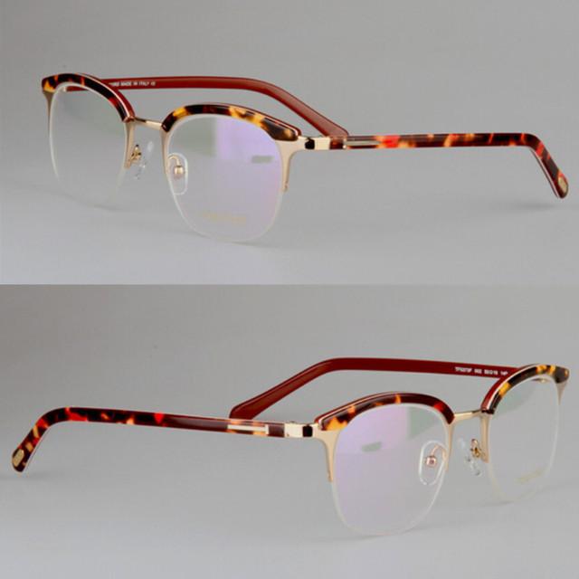 Nova moda personalidade Do Vintage placa de meio quadro pectacles Tom tf5373 Retro Marca óculos de armação óculos de armação com caixa original