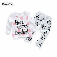 Kimocat Одежда для новорожденных девочек хлопковый в горошек