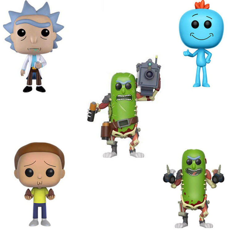 Funko POP Rick And Morty,MR.MEESEEKS,PICKLE RICK (with Laser) PVC Action Figure Collection Model Toys For Children Birthday Gift
