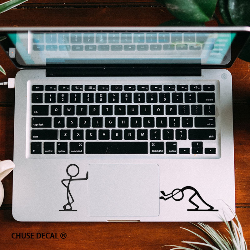 US $4 9 |Funny Matchstick Men Notebook Touchpad Decal Laptop Trackpad  Sticker for 11