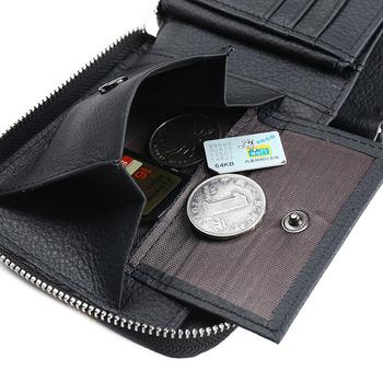 Genuine Leather Men Wallet Male Zipper Purse Coin Short For Walet Cuzdan Vallet Money Bag Kashelek Portomonee Billetera Partmone