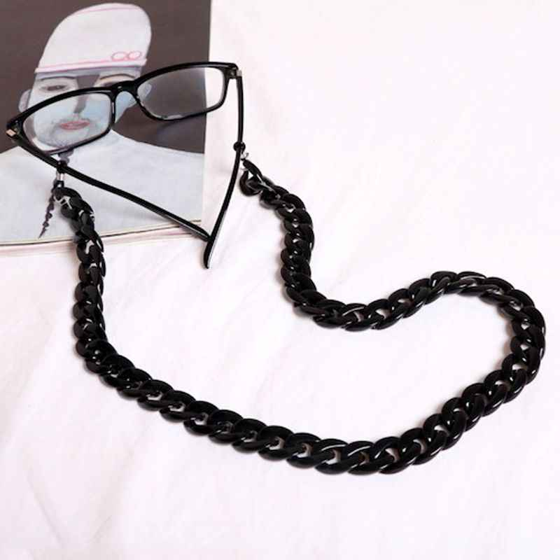 Acrylic Eyeglass Chain Anti-slip Eyewear Cord Holder Neck Strap Reading Glasses Rope Men Women Unisex