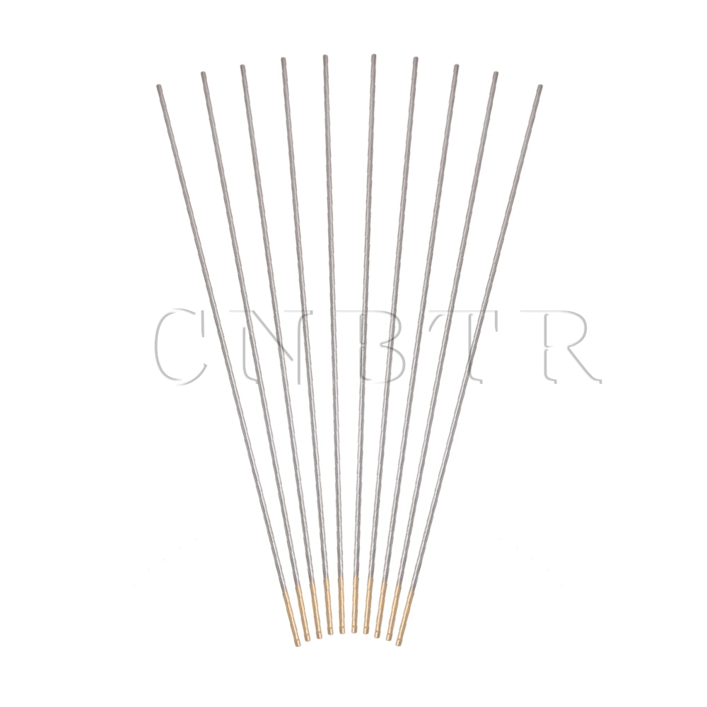 CNBTR 10Pieces 175x1.6MM Gold Tip WL15 1.5% Lanthanated Welding Tungsten Electrode цена