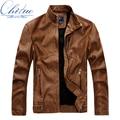 Hombres otoño y el invierno de cuero de la motocicleta chaqueta de cuero chaqueta de cuero de los nuevos hombres de los hombres ropa casual de negocios M-XXL