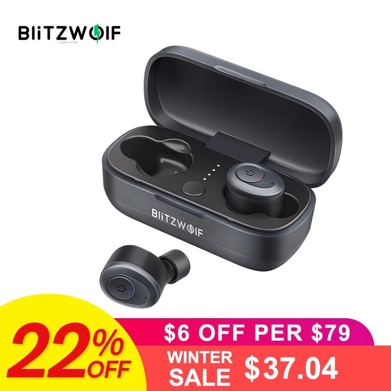 Blitzwolf BW-FYE4 Bluetooth 5,0 СПЦ True Беспроводной наушники зарядки окно Hi-Fi стерео звук двусторонних вызова IPX4 Водонепроницаемый