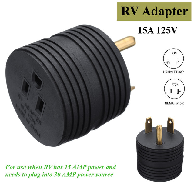 KROAK RV Electrical Adapter Plug 30AMP Male to 15AMP Female for ...