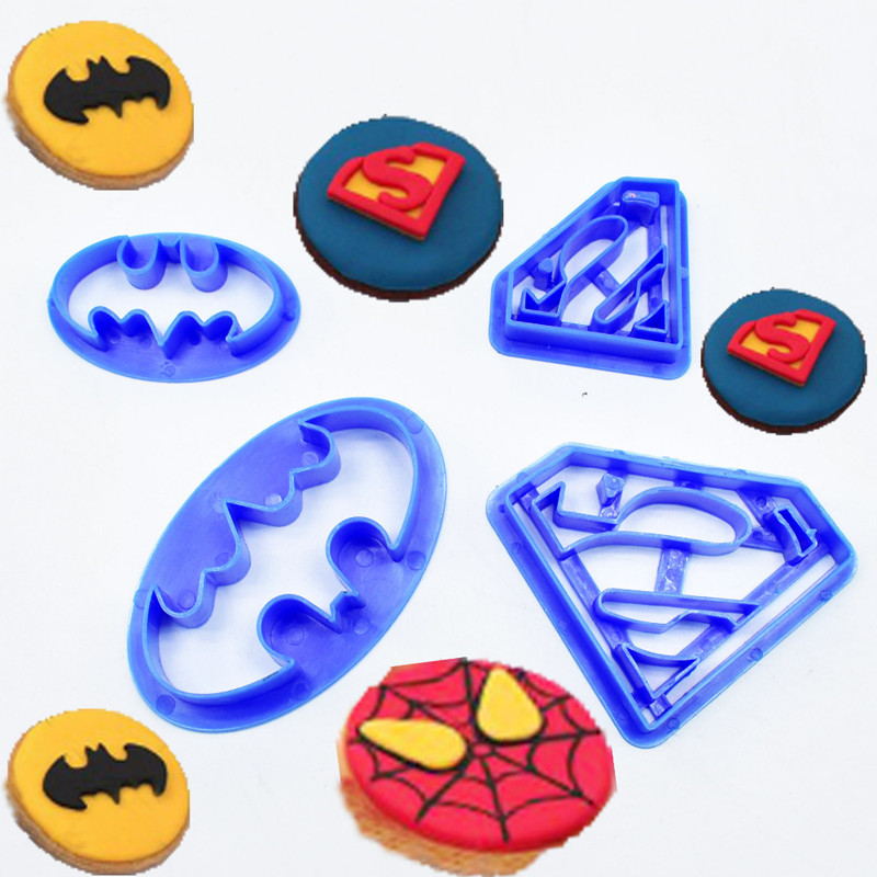 Biscuit Cutter Decoration-Tools Pastry Bakeware Cookie Fondant Batman Superman Sugar