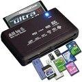 Tudo em Um Leitor de Cartão de Memória USB SD SDHC Externo Mini Micro M2 MMC XD CF Suporte V2.0 USB full Speed Especificação preto