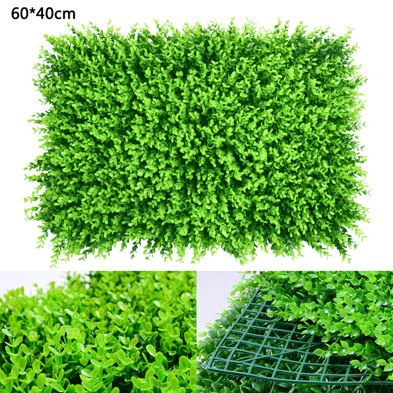40x60cm Grass Mat Green Wall Artificial Plant Lawns Landscape Carpet For Garden Wall Decoration Fake Grass Wall Party Wedding