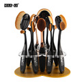 MAANGE 12 holes heart Acrylic Holder Stand for Makeup toothbush oval Brushes golden Dryer display Brush tower tree rack storage