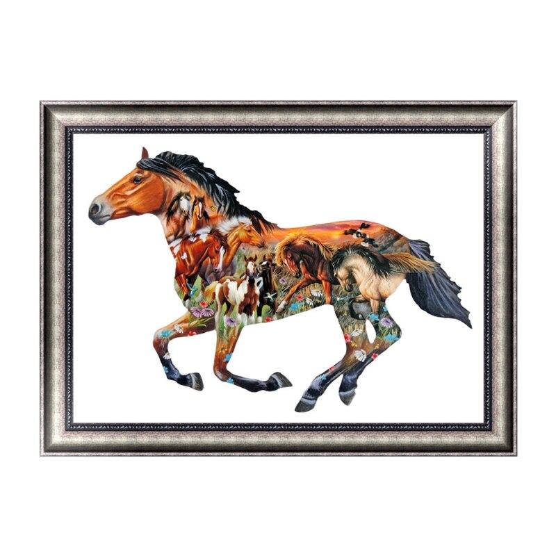 Various Horse DIY 5D Diamond Embroidery Painting Cross Stitch Home Decor Art Craft