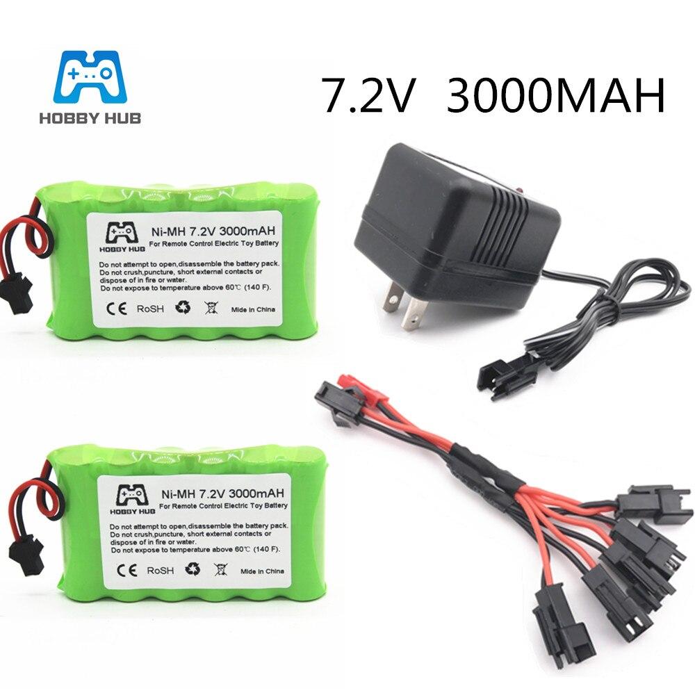 Hobby Hub Ni-mh 7.2v 3000mah 2800mah  2400mah Battery For Electric Toys Remote Car Ship Robot AA 7.2 V 3000 Mah NI-MH Aa Battery