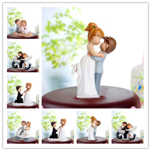 2215bc71f38f Funny Wedding Cake Topper Fat Couple Style Bride   Groom Cake Topper  Figurines Wedding Decoration Cake Decorating Gifts Favors-in Cake  Decorating Supplies ...