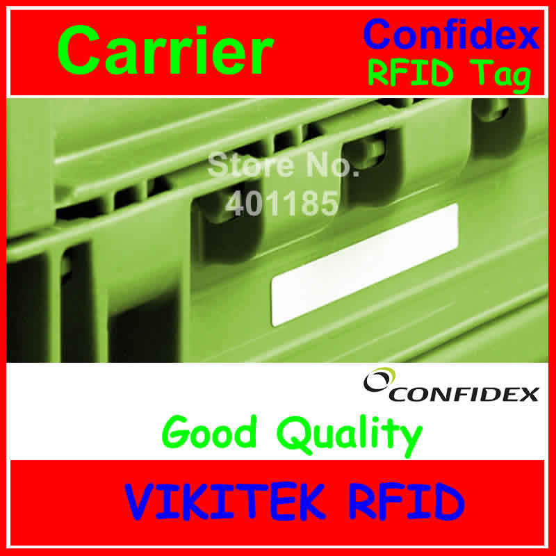 Confidex carrier UHF RFID  tag 860-960MHZ 915M EPC C1G2 ISO18000-6C washable label for plastic containers with strong adhesive 100pcs washable silica gel uhf high temperature resistant rfid clothing tag used for clothes management and laundry shop