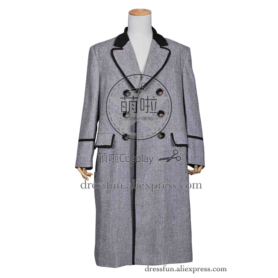 Who Buy The Doctor Cosplay The Fourth 4th Doctor Dr Tom Baker Costume Trench Coat Fast Shipping High Quality Daily Life