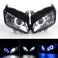 Полностью Собранный Мотоцикл HID фар 6000 К w/blue angel демон Средства ухода для век для Honda CF5 CBR 600RR 2007 2011 #3469