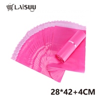 50pcs 11*16.5inch/28*42cm Girl Pink Thick Waterproof Self Adhesive Bag Poly Mailing Bag Gift Mailing Bag