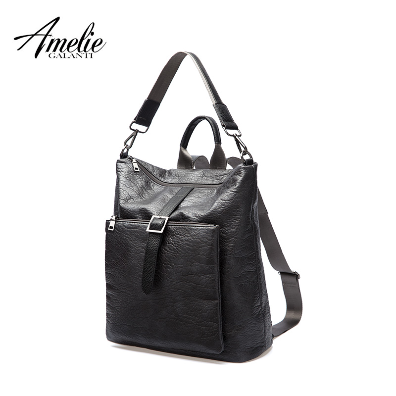 AMELIE GALANTI Autumn and Winter Newest Backpacks Unisex Fashionable avant-courier multifunction Soft advanced PU fabrics mulinsen newest 2017 autumn winter men