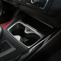 Car Styling Interior Water Cup Holder Panel Decorative Cover Trim For BMW F20 1 Series 118i