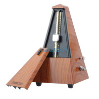Conductor JX III Merchanical Metronome Audible Click Bell Ring Option For Guitar Bass Piano Violin Mahogany