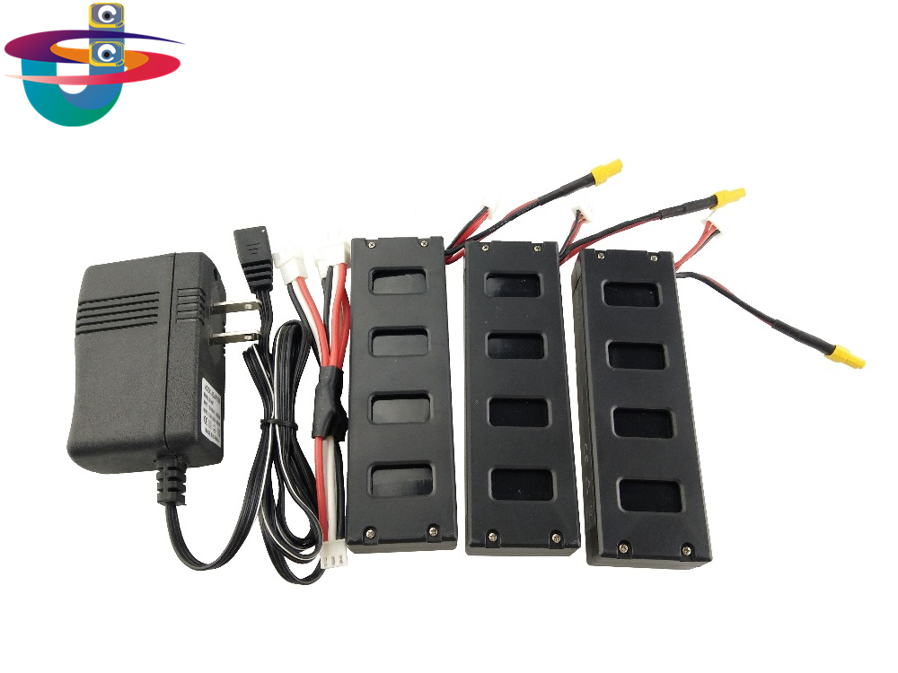 For the MJX B3 helicopter 3PCS 7.4V 1800mah battery and the US regulatory charger with 1 care 3-line aircraft accessories XT30 four axis aircraft lithium battery accessories for udi u842 u842 1 u818s helicopter 3pcs battery and 6 in 1 charger